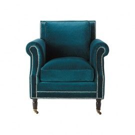 fauteuil bleu canard avec son joli coloris bleu canard ce. Black Bedroom Furniture Sets. Home Design Ideas