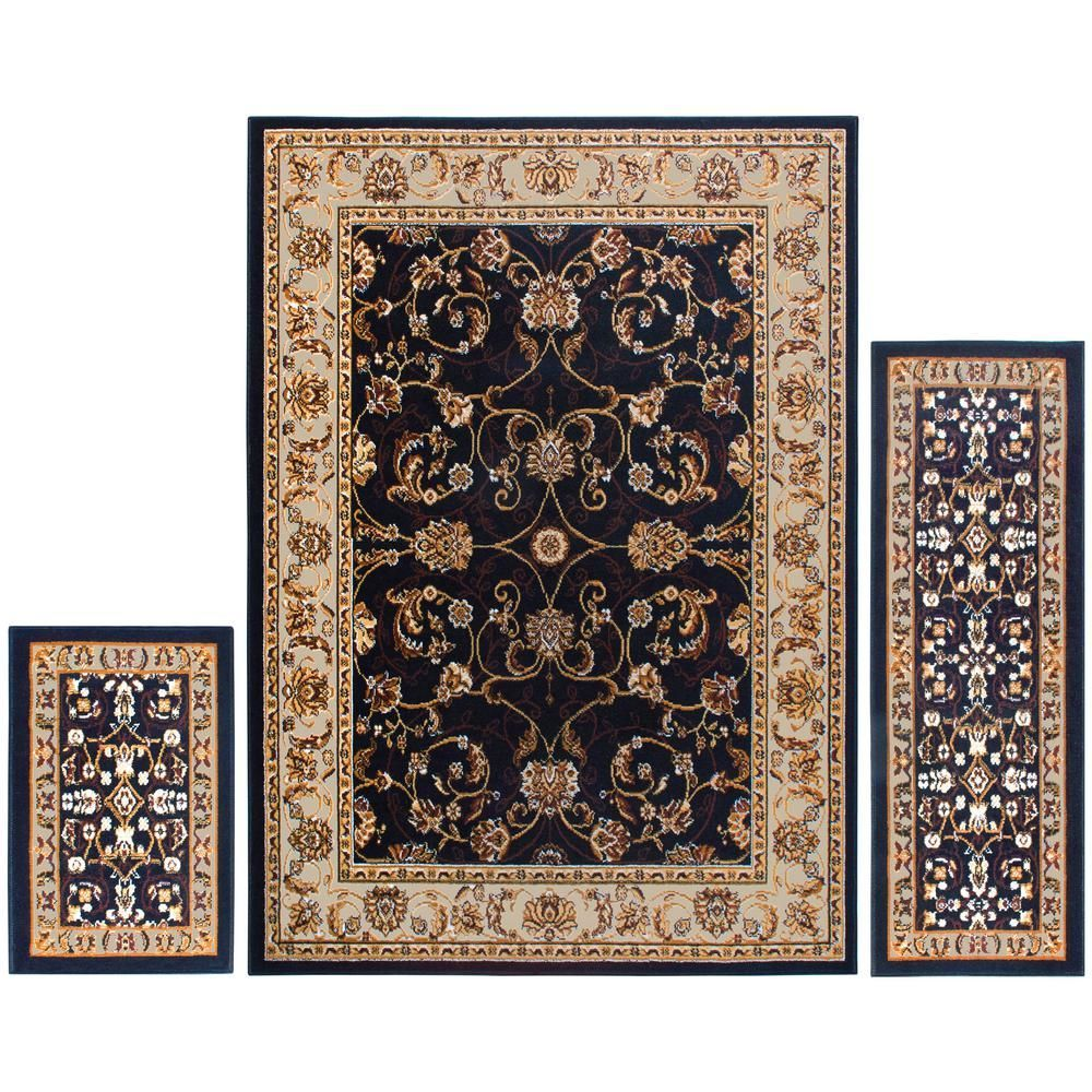 Home Dynamix Ariana Blue Ivory 5 Ft X 7 Ft 3 Piece Rug Set 3s Hd812 327 The Home Depot Ariana 3piece Ariana Blueivory Depot Dyn In 2020 Sets Kohl S