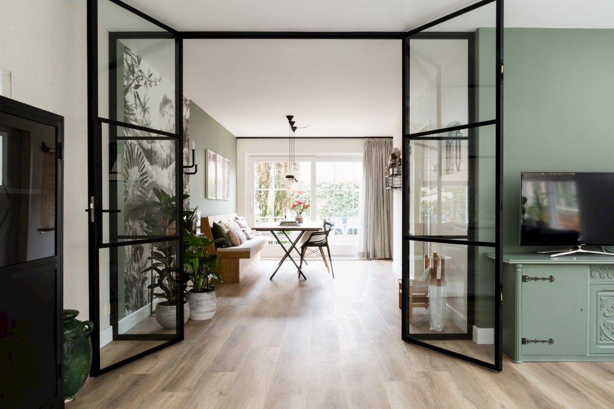 Glazen deuren in woonkamer