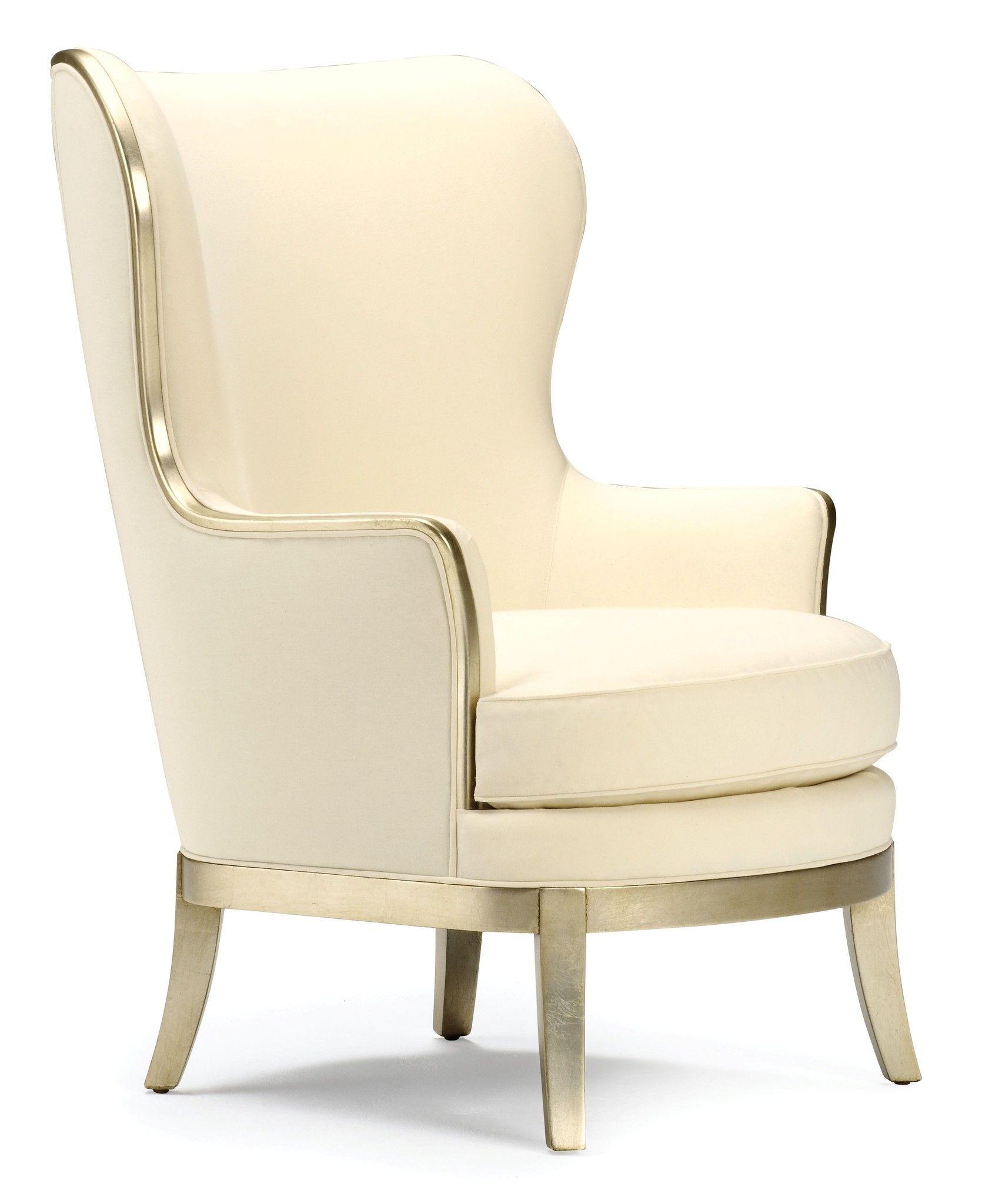 Ava Wing Chair Hollywood Regency Style Mixed With Traditional  # Muebles Hollywood