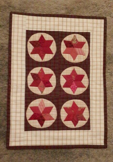 EPP Stars mini quilt