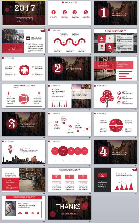 23 red business report powerpoint template template business and 23 red business report powerpoint templates toneelgroepblik Image collections
