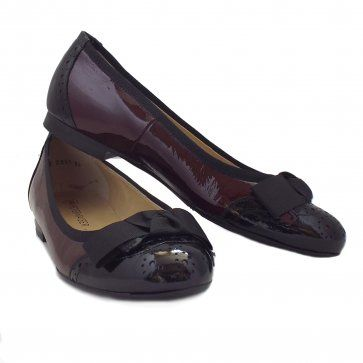 768da89d9c8d Peter Kaiser Shoes  Idria Ladies Ballet Pump in Burgundy and Black ...