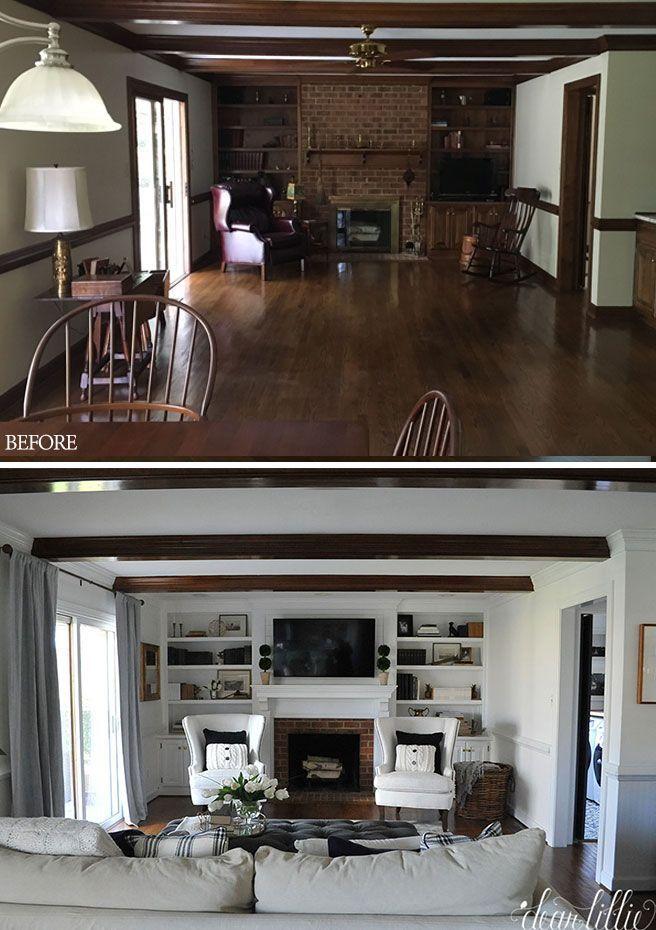 Photo of Jenni's Home – Family room and kitchen – Dear Lillie Studio – Jenni's Home …