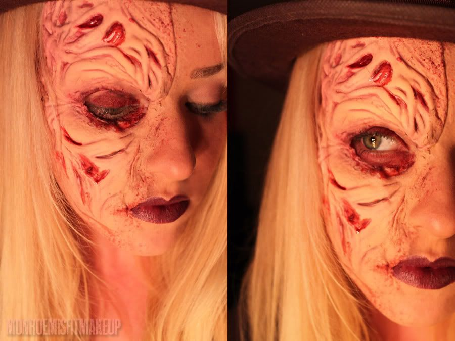 makeup face Freddy krueger