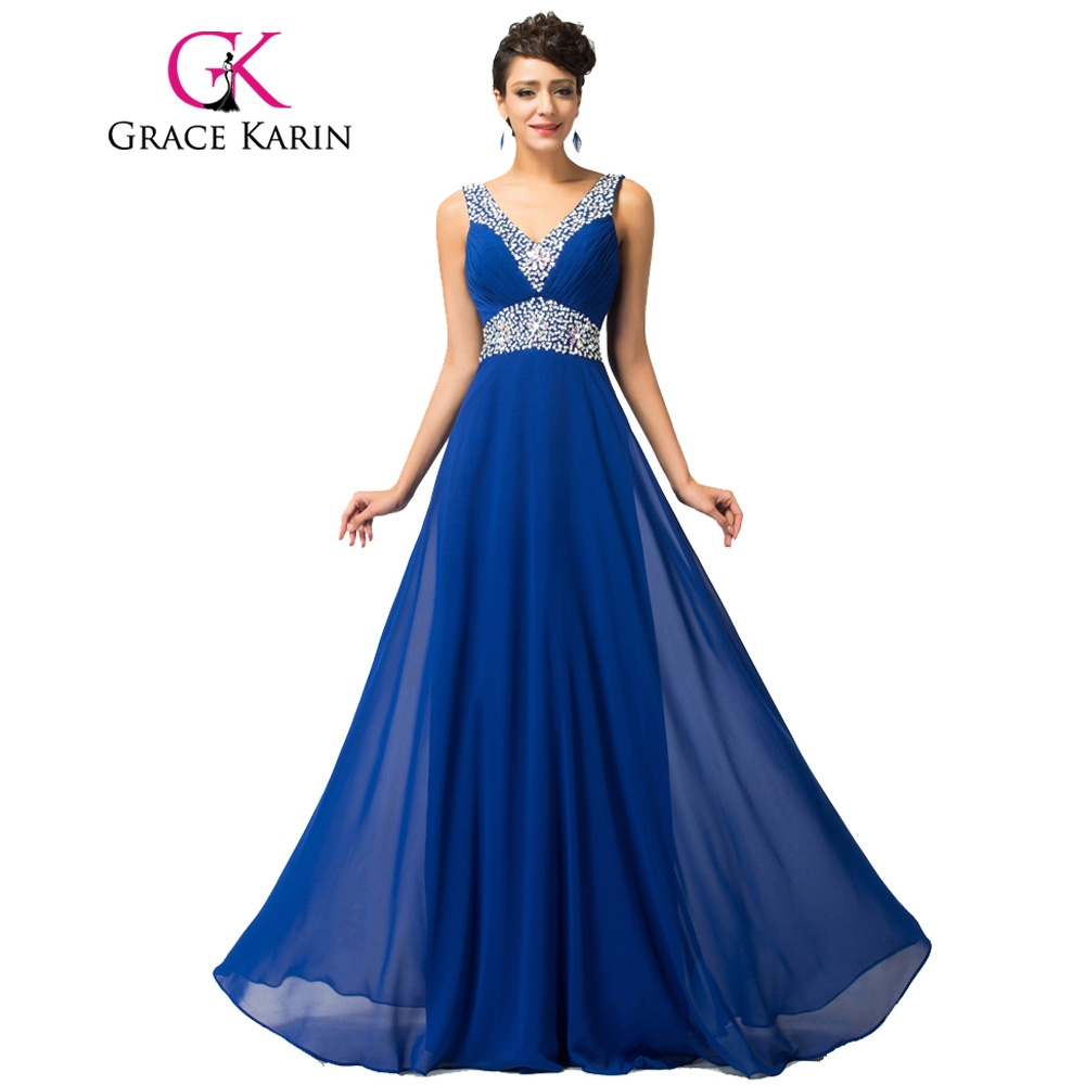 watch here grace karin royal blue evening dresses deep v