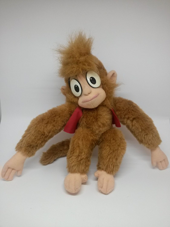 Disney Aladdin Abu Monkey Vintage Plush Stuffed Animal by