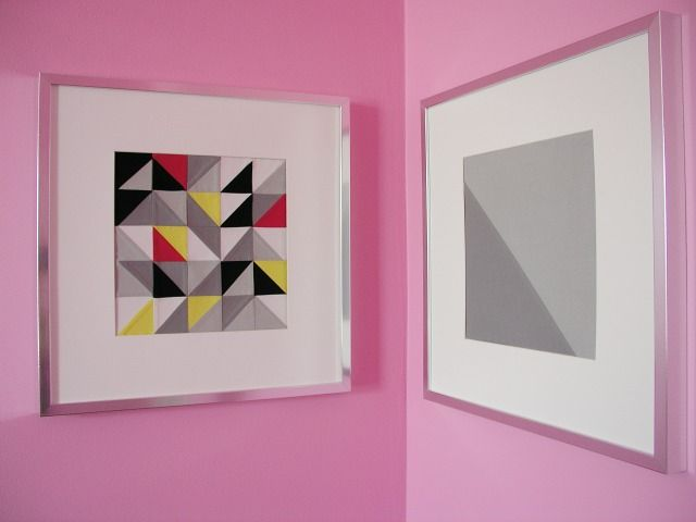 framed triangle patchwork