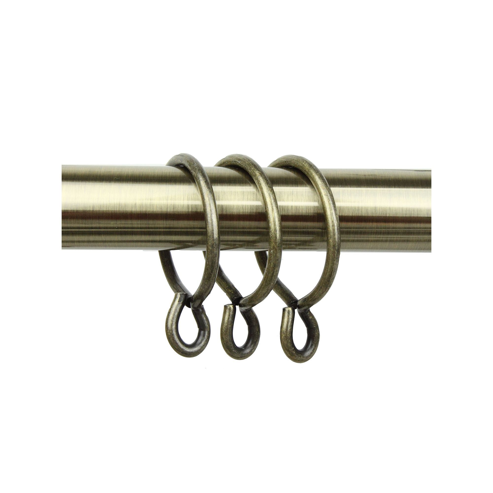 Rod Desyne 10 Pk Heavy Duty Eyelet Curtain Rings Brown Clip