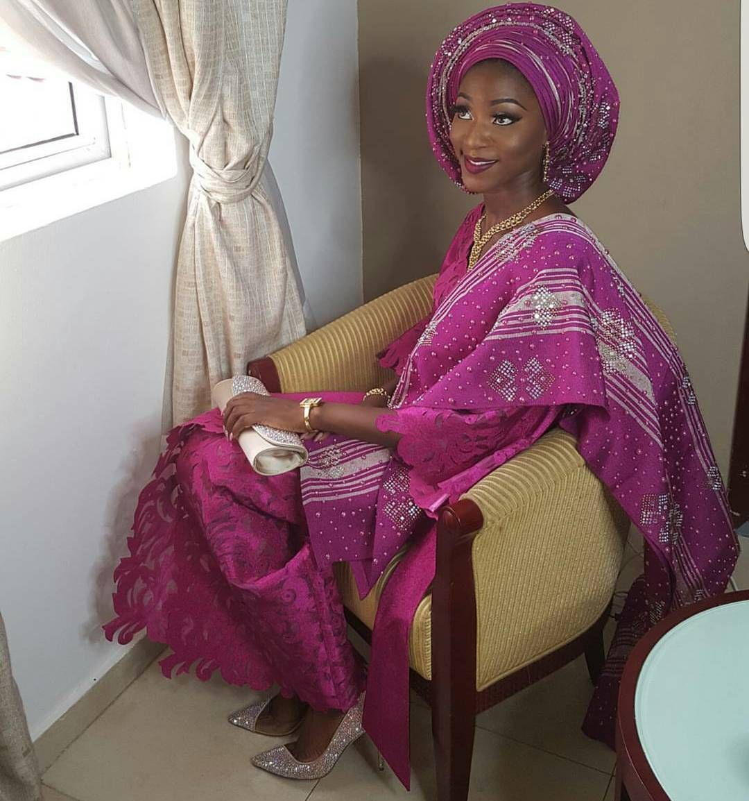 Lace short dress styles in nigeria  Another pretty in pink gorgeous bride mallamatoyin See those shoes