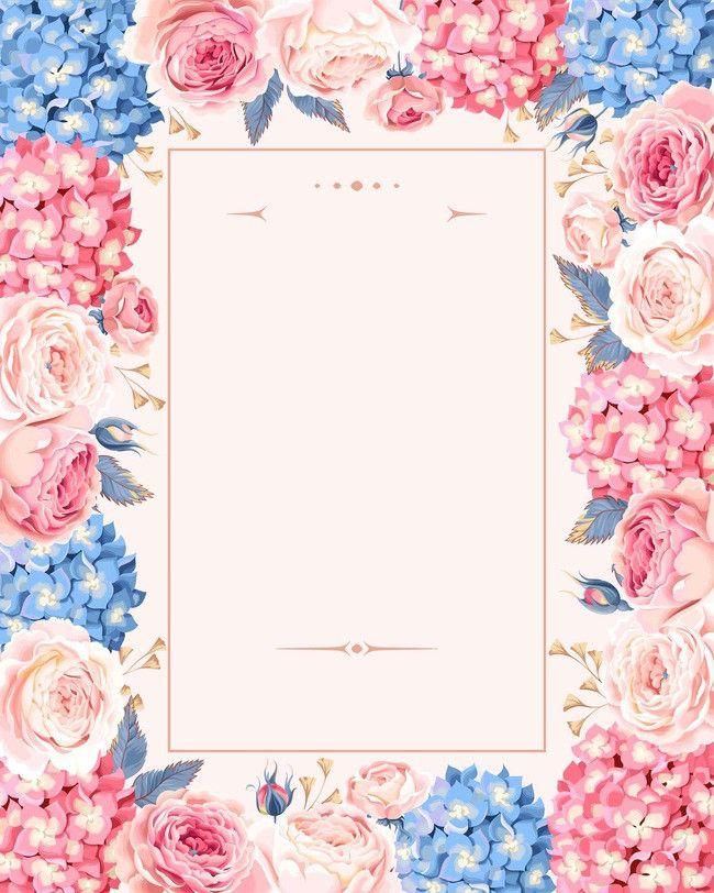 European-style Hand-painted Flowers Wedding Invitations