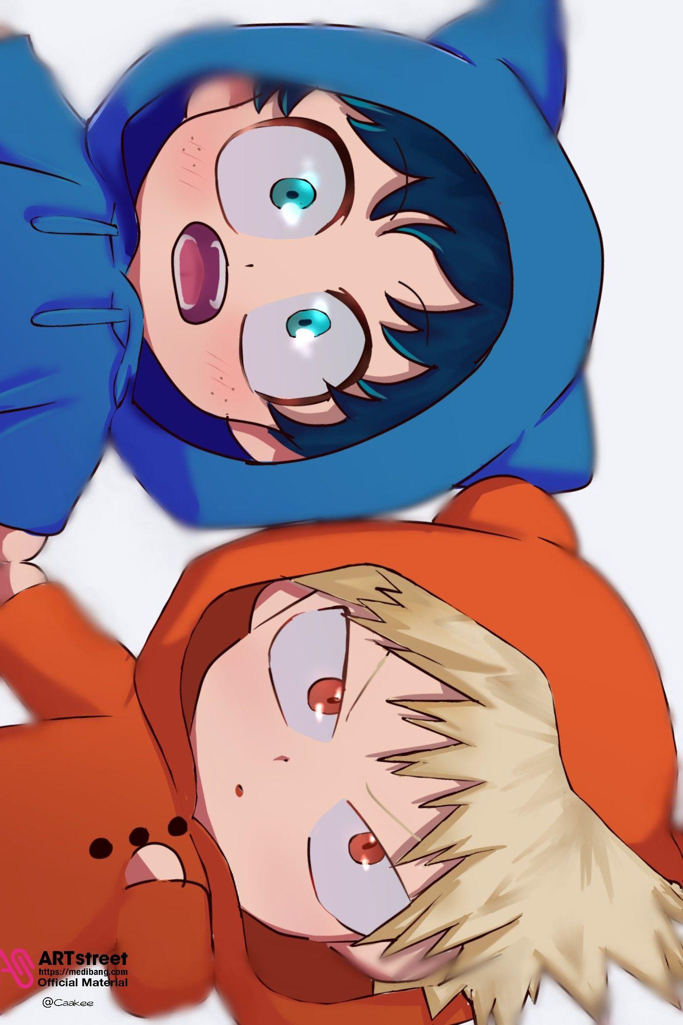 Midoriya Izuku And Katsuki Bakugo Animal Ears Cute Boku No Hero Academia Anime Child My Hero Cute Anime Guys
