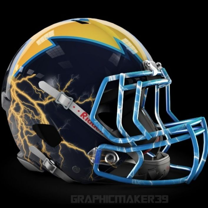 San Diego Chargers Football Helmet: NFL Alternate Helmet Designs