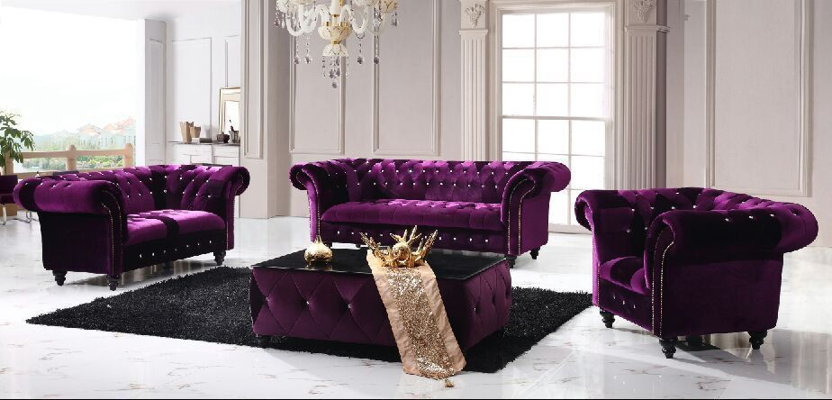 Victoria Chesterfield Boutique Crush Velvet 3 + 2 +1 Purple Sofa In Home,  Furniture U0026 DIY, Furniture, Sofas, Armchairs U0026 Suites | EBay
