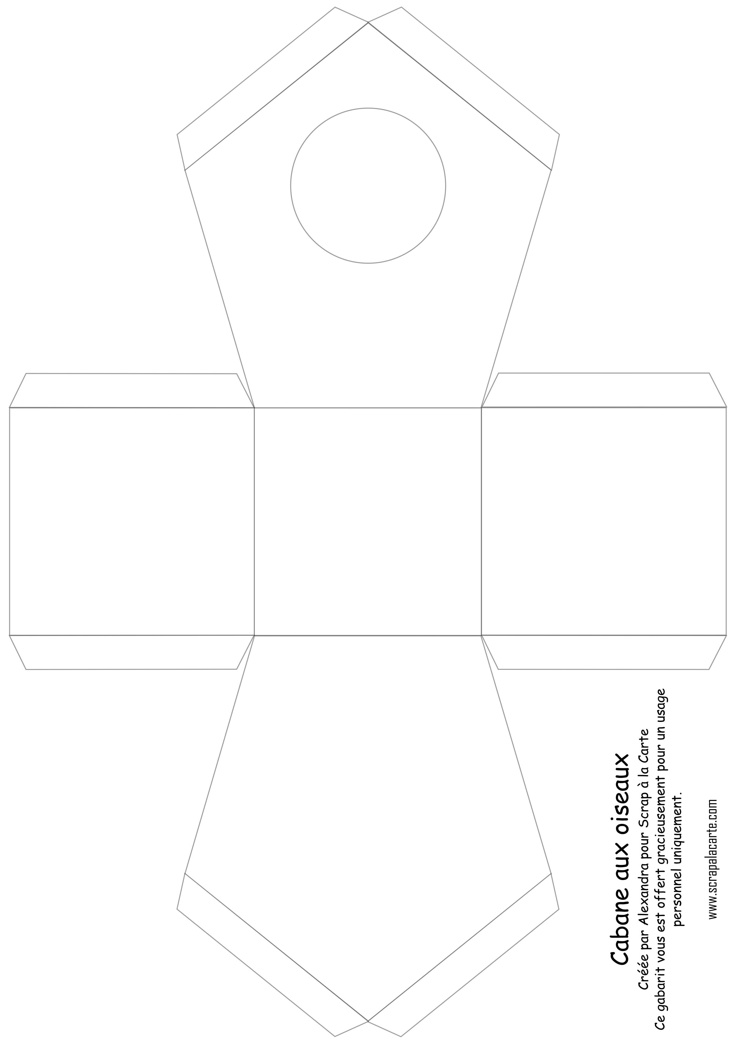 2 480 3 508 pixels 3d cut files - Gabarit maison en carton ...