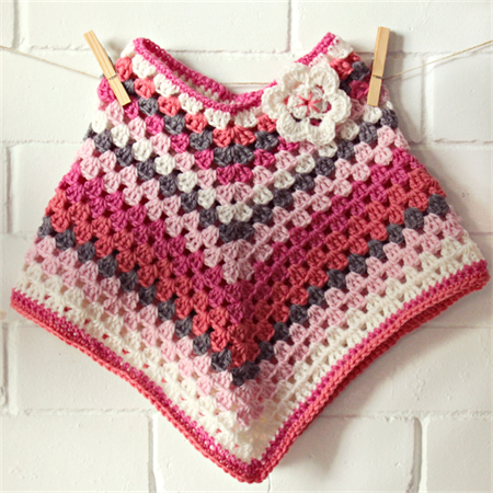 COLORS! crochet wool poncho | baby toddler girl | winter | Evie ...