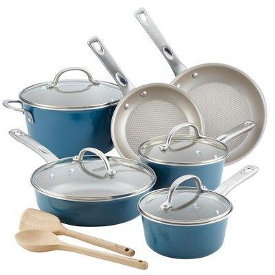 Ayesha Curry 12pc Aluminum Cookware Set Blue Ayesha Curry