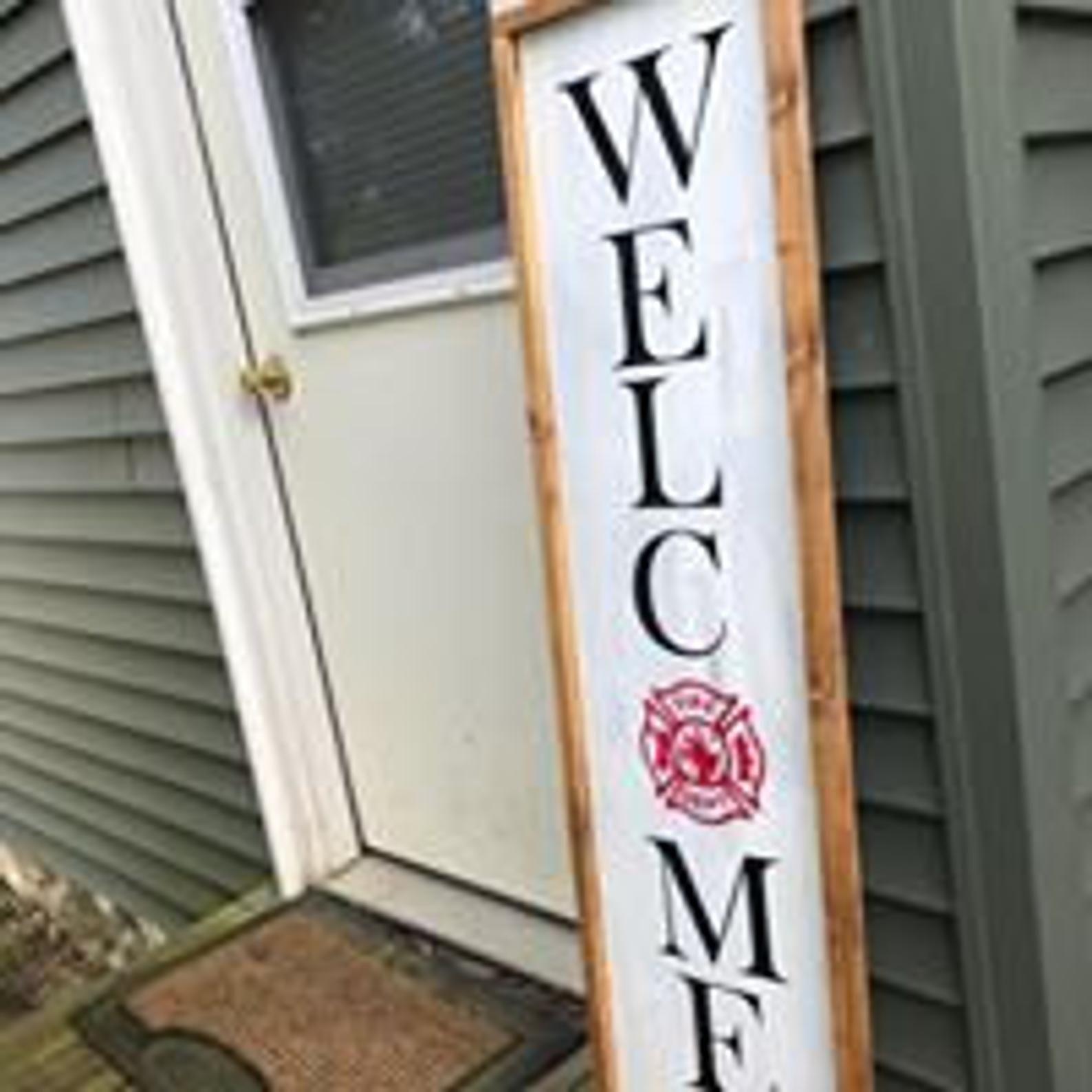 Fire Department Welcome Door Sign