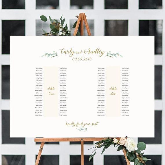2 Banquet Table Seating Plan