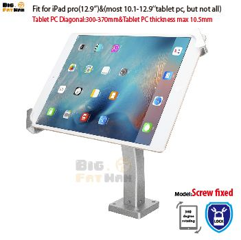 Universal Tablet Wall Mounting Holder Anti Theft Desktop Mount Bracket Lock Holder Display Stand For 10 1 12 9 Ipad Samsung Asus Ipad Ipad Pro Display