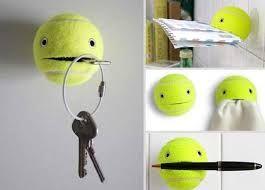 balles de tennis transforme en smiley