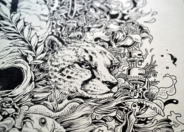 Kerby Rosanes Cheetah | Illustration | Pinterest | Draw, Doodles and ...