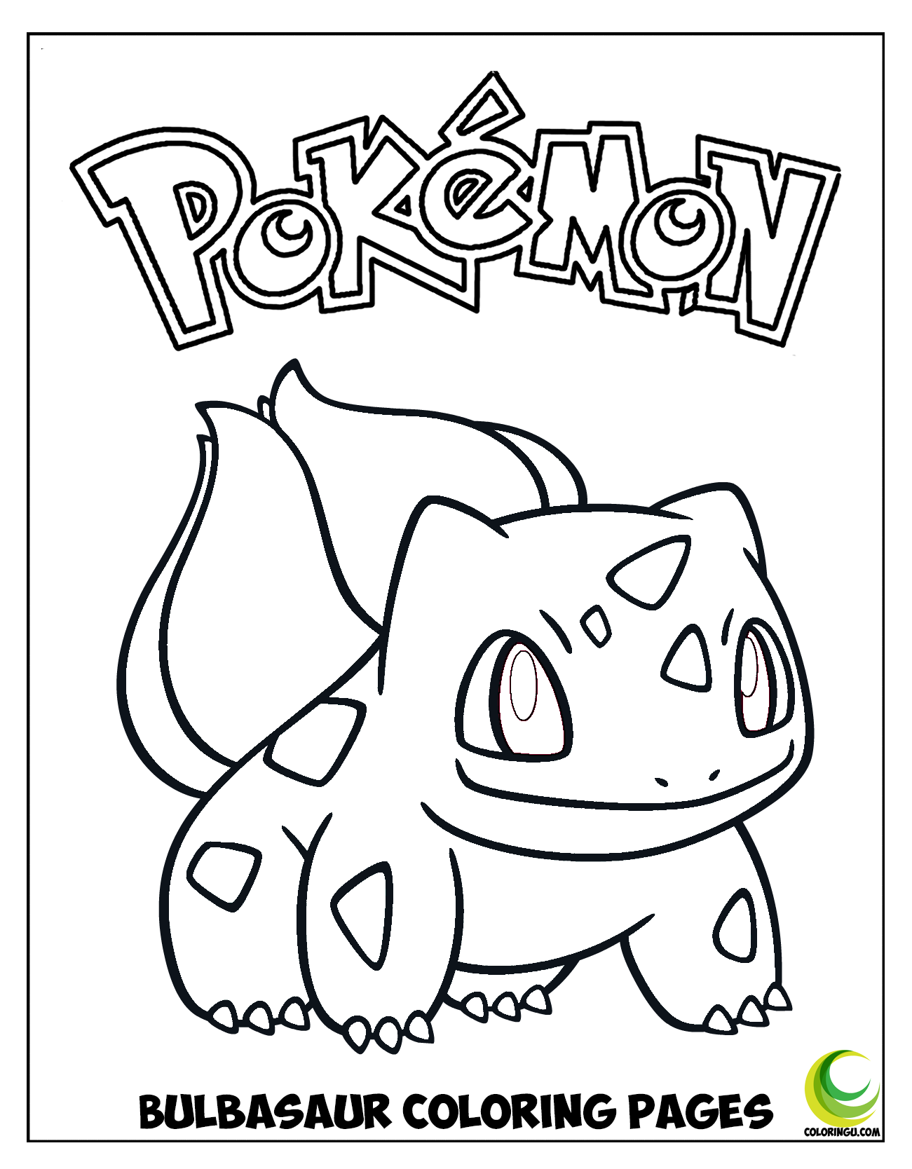Bulbasaur Coloring Pages in 19  Coloring pages, Pokemon