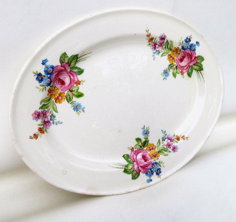 Lot 2 Vine Edwin M Knowles Blue Flowers China Dinner Plates Semi & Edwin M Knowles Plates Semi Vitreous - Best Plate 2018