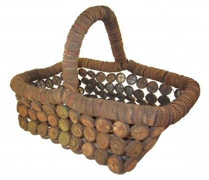 Basket. c.1940. Most likely Missouri origin.