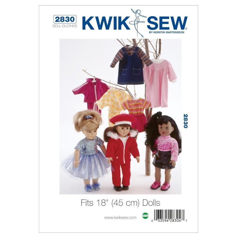 Kwik Sew Schnittmuster K2830 One Size Puppen Puppenkleider Kleid ...