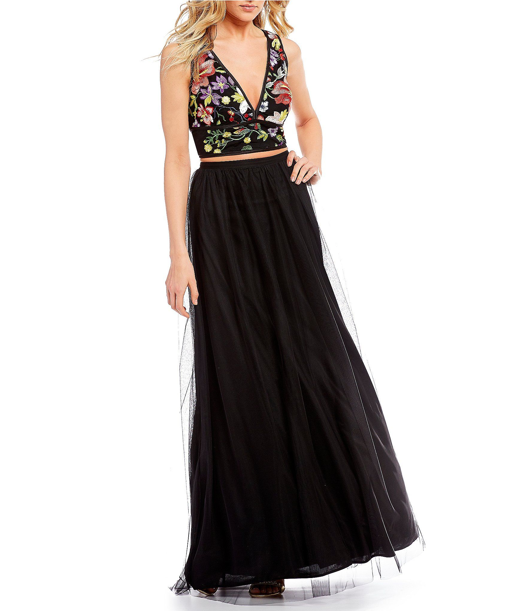 4655b0e6125 Shop for GB Social Embroidered Top Two-Piece Ball Gown at Dillards.com.  Visit Dillards.com to find clothing