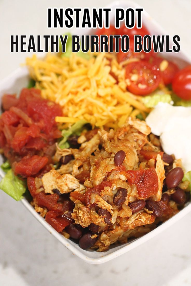 Instant Pot Healthy Chicken Burrito Bowls | Six Sisters' Stuff -   19 healthy instant pot recipes chicken burrito bowl ideas
