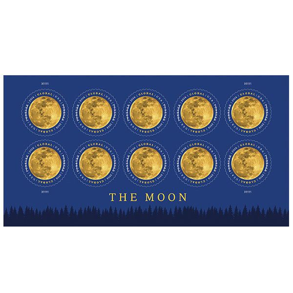 nice USPS New The Moon Global Forever International rate stamp pane of 10   Check more at http://harmonisproduction.com/usps-new-the-moon-global-forever-international-rate-stamp-pane-of-10/