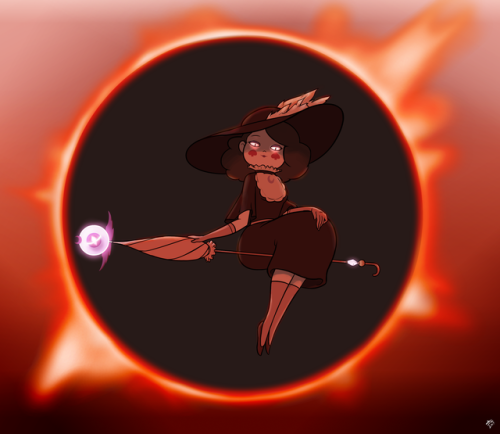 """wwwjam: """" Drawthread request: Eclipsa from Star Vs.Blahblahblah in front of an eclipse, similar to some shot from an anime orgameorsomethingIdunno. I like this one. The eclipse could use a bit(a lot) of sprucing up, among other things, but for a..."""