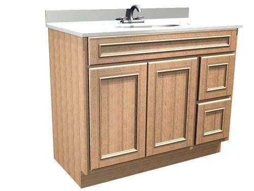 briarwood 42 w x 21 d x 31 h woodland vanity sink drawers right rh pinterest com
