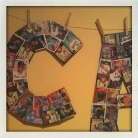 Wall Letters For Boys Room Made Out Of Baseball Cards For The Home
