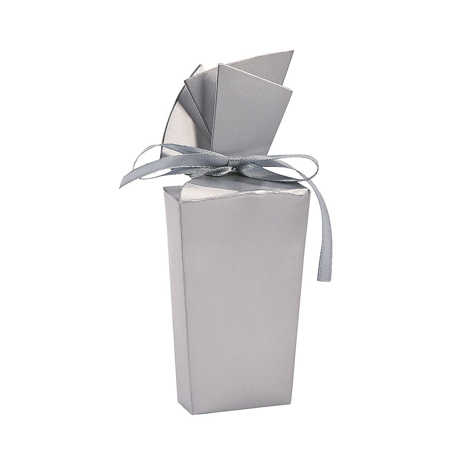 Silver Fan Favor Boxes - OrientalTrading.com | Fairytale | Pinterest ...
