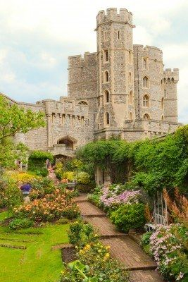 The garden and part of castle of windsor #Castles #AmazingCastles