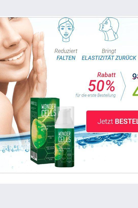 Wonder Cells Perfect Skin Deutschland Revolution in VERJÜNGUNG Pures Quellwasser ausbalanzierte Zusammensetzung und mehrere proaktive vegetativen Wirkstoffe bieten i...