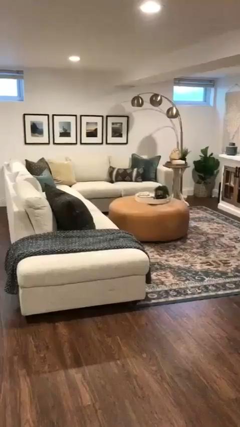 Basement Living Room Interior Idea