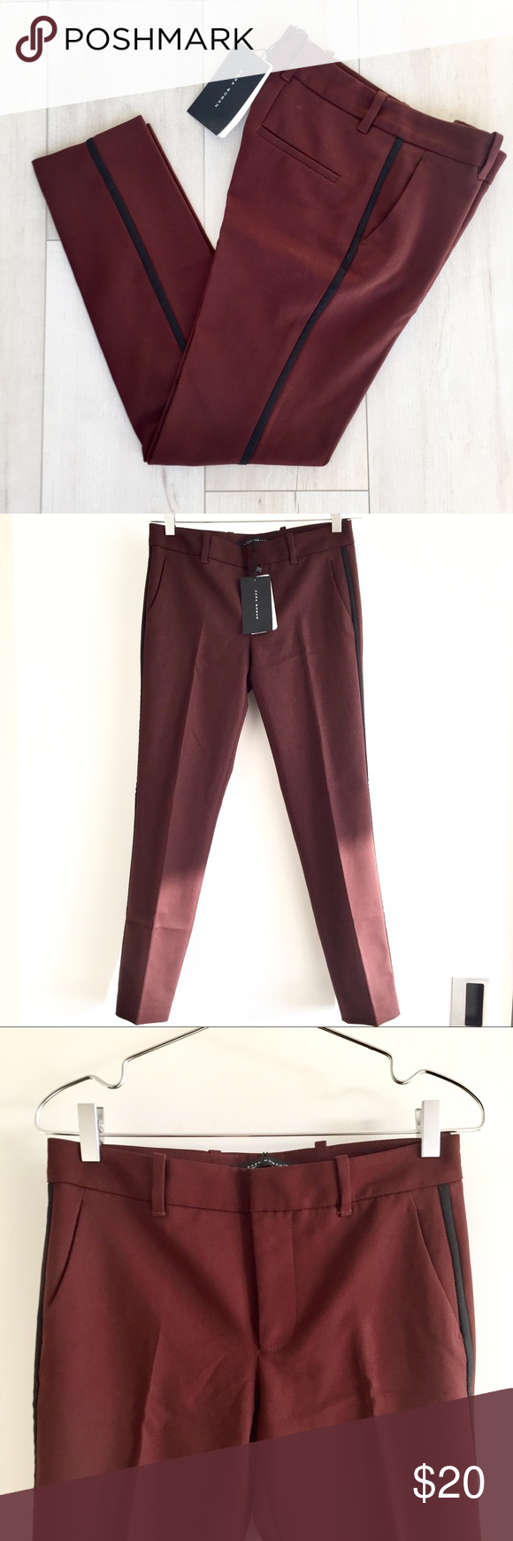 3d38b746 100% BNWT Zara Maroon Cropped Tuxedo Pant Cropped tuxedo pants are super  cute when styled