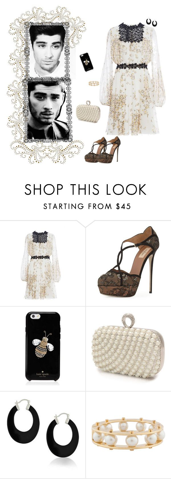 """~ Date Night With Zayn Malik ~"" by stylistic-1 ❤ liked on Polyvore featuring Giambattista Valli, Valentino, Kate Spade, Mascara, Bling Jewelry and Lele Sadoughi"