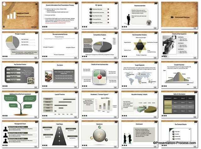 Investment Growth Powerpoint Template  Business