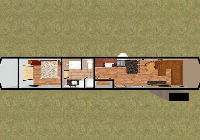 53 shipping container house floor plan concept bandit 3d top - Versand Container Huser Design Plne