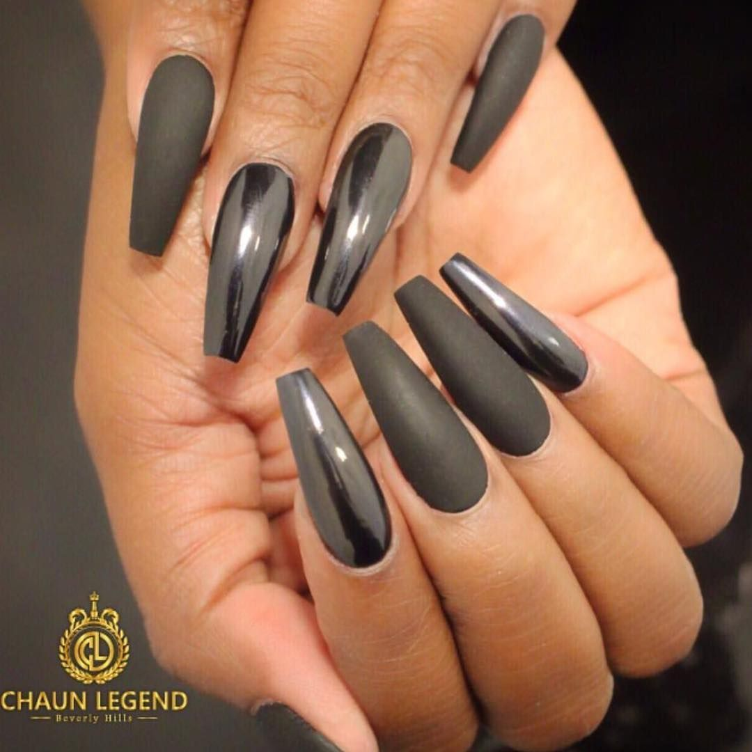 30 Creative Designs for Black Acrylic Nails That Will Catch Your Eye – Polish and Pearls
