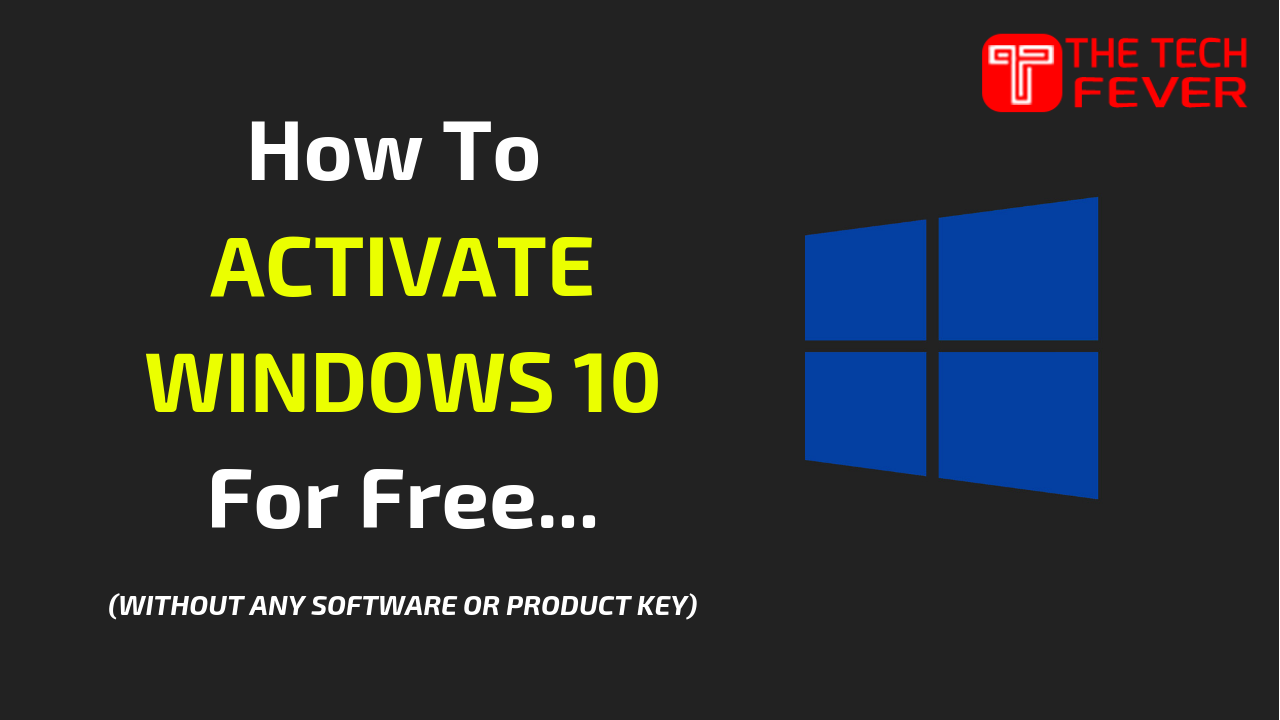 Activate Windows 10 For FREE Of Any Version (2019 Updated) #windows