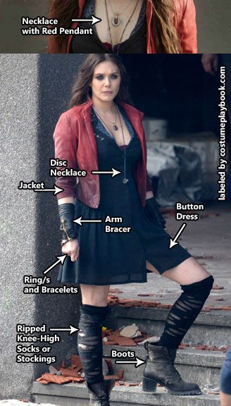 Scarlet Witch Costume From Avengers Age Of Ultron Costume Playbook Cosplay Halloween Ideas Witch Cosplay Scarlet Witch Costume Scarlet Witch Cosplay