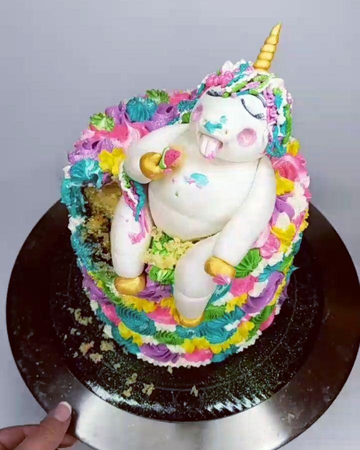 how to make a fat unicorn cake
