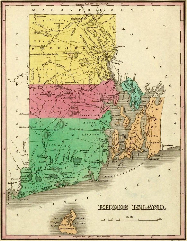 Map of Rhode Island. 1831.