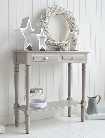 Console Tables For Hall And Living Room Furniture In Grey White Cream The Oxford Small Table With Drawers Shelf